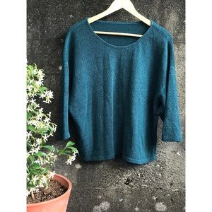 American Apparel Slouchy Teal Sweater
